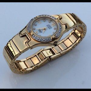 Anne Klein Swiss Diamond gold women watch